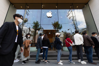 Pandemic lockdowns have led to booming sales for Apple.
