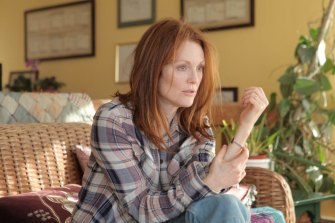 Julianne Moore in a scene from Still Alice. The audience is shown dementia through the eyes of the character living with the condition.