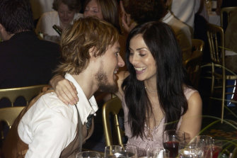 With Silverchair frontman Daniel Johns in 2003, shortly before they married.