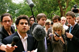 """""""The running joke was that we made a so-so TV show but a great YouTube channel,"""" jokes Marc Fennell (second from left)."""