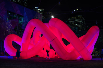 The Knot, a new, immersive public sculpture at Fed Square.